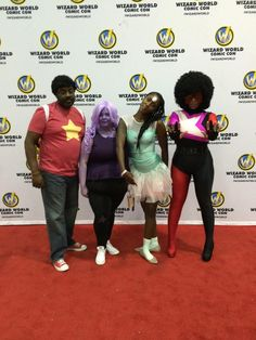 wizard world steven universe cosplay pearl amethyst garnet Garnet Cosplay, Pearl Cosplay, Purim Costumes, Cool Costumes, Cosplay Outfits, Cosplay Costumes, Best Cosplay, Awesome Cosplay, Afro Punk Fashion