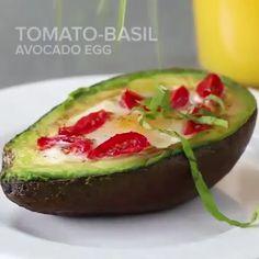 Avacado And Egg Recipes, Avocado Egg Bake, Veggie Recipes, Keto Recipes, Healthy Recipes, Avocado Breakfast, Egg Recipes For Breakfast, Food Videos, Indian Videos