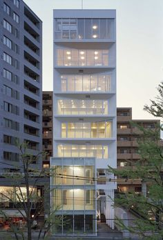 Built by yHa architects,L&C design in Tokyo, Japan with date 2007. Images by Takeshi YAMAGISHI. Complex building in Ebisu near Shibuya, Tokyo. Lower floor is shop and upper floor is apartment or office like SOHO. ...