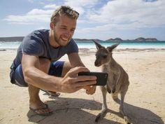 My Friend On The Beach Taking A Selfie With A Wild Kangaroo! Esperance, WA