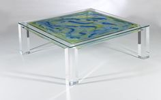Cocktail & Side Tables - Edge coffee table square,ACRYLICORE by Shahrooz is one of the top-leading designers and manufacturers in Fine Clear #AcrylicFurniture and Sculptures in the country. This is our specialty. Our confidence in clear #acrylic #furniture stems from the growing worldwide. Visit http://www.shahrooz-art.com/