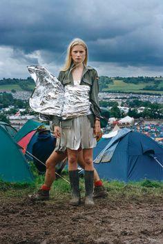 Kirsty Hume -- Glastonbury, England, 1998 - British Vogue
