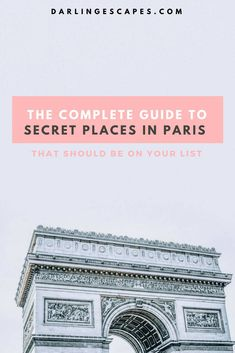 Finding the secret spots in Paris can be a chore so we've gone ahead and done the work for you. Sharing our favorite hidden gems in Paris including something for the foodies!