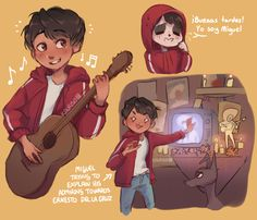 It's the Day of the Dead so I'm legally allowed to post some Coco art Miguel Disney Fan Art, Disney Pixar, Disney Characters, Fictional Characters, Fanfiction Writer, The Black Cauldron, Treasure Planet, Big Hero 6, Book Of Life