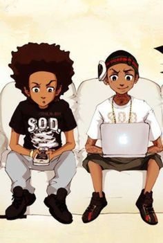 ImageFind images and videos about badass, gangsta and boondocks on We Heart It - the app to get lost in what you love. Swag Cartoon, Dope Cartoon Art, Cartoon Cartoon, Black Love Art, Black Girl Art, Black Boys, Boondocks Drawings, Anime Negra, Cartoons