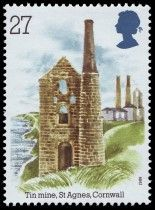 St Agnes Head, Cornwall from Industrial Archaeology Royal Mail Stamps, Uk Stamps, Love Stamps, St Agnes, British Country, Vintage Stamps, Stamp Collecting, Great Britain, Cornwall