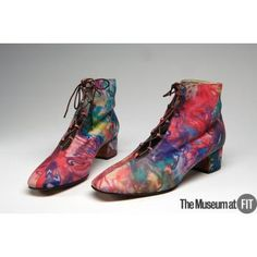 David Evins printed leather boots, 1970, USA, Gift of David Evins. Collection of The Museum at FIT #TurnofStyle