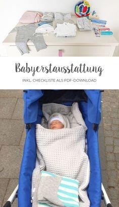 Babyerstausstattung - Hier findest du eine übersichtliche Liste mit allen notwendigen Dingen für dein Baby (PDF Download)