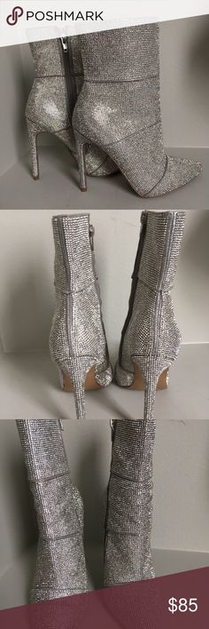 0b21dd33377 Steve Madden Winona rhinestone crystal short boots Rows upon rows of tiny  sparkling crystals amplify the