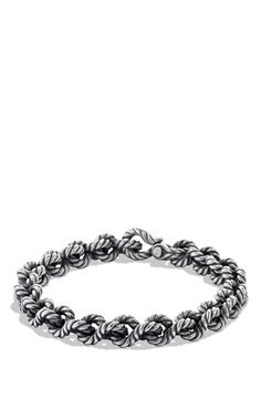 Men's David Yurman 'Cable' Buck Twist Bracelet - Silver