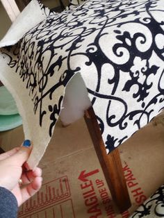 Lazy Liz on Less: DIY Dining chairs - finally finished them!