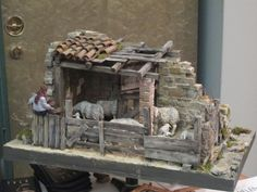 Nativity scenes and dioramas in exhibitions for Italy - Video courses for dioramas and nativity scenes Christmas Crib Ideas, Christmas Clay, Simple Christmas, Christmas Village Display, Christmas Nativity Scene, Christmas Villages, Nativity Scenes, Diy Nativity, My Doll House