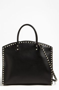 Valentino 'Rockstud' Leather Dome Satchel available at #Nordstrom