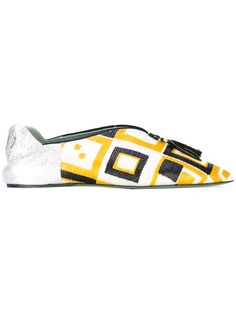 Shop Paola D'arcano pointed slippers.