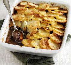 Italian Cottage Pie (need this recipe to go with it: http://www.bbcgoodfood.com/recipes/353606/beef-with-red-wine-and-carrots)