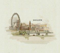 Sherlock intro fanart