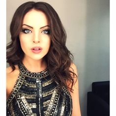 "Elizabeth Gillies ""Pre-performance the other night."""