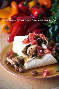 Weeknight Chipotle Chicken Burritos \\ GirlCarnivore.com