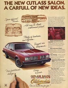 1978 Oldsmobile Cutlass Salon, one of the ugliest cars ever.