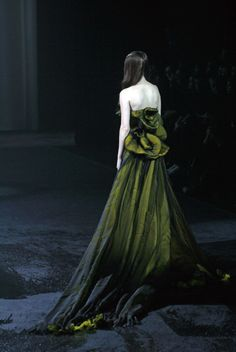 ♥ Romance of the Maiden ♥ couture gowns worthy of a fairytale - deep green