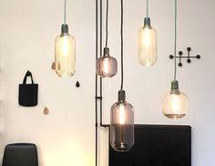 Amp lamp, marble and glass in green and black, modern lighting, pendant lamp, scandinavian design  Simon Legald for Normann Copenhagen