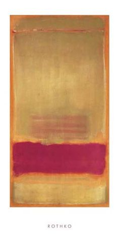 Paper Size: 39 1/2 x 19 3/4 Image Size: 31 1/2 x 16 3/4 Art Print Poster by Mark Rothko. This Art Print is a licensed reproduction that was printed on Premium Heavy Stock Paper which captures all of t