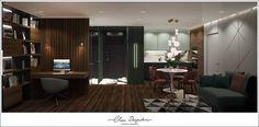 Дизайн-проект квартиры ЖК Скандинавия. Conference Room, Curtains, Table, Furniture, Home Decor, Blinds, Decoration Home, Room Decor, Tables