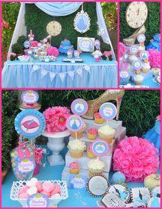 CINDERELLA Party Cinderella Birthday Party por KROWNKREATIONS