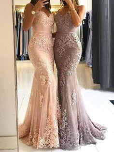 Custom Made Light Prom Dresses Lace, Prom Dresses Mermaid, Prom Dresses Long Mermaid Prom Dresses Lace, Elegant Prom Dresses, Pink Prom Dresses, Tulle Prom Dress, Prom Dresses Online, Prom Party Dresses, Cheap Dresses, Lace Dress, Bridesmaid Dresses
