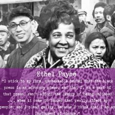 Ethel Payne is known as the First Lady of the Black Press, because of her fearlessness as a journalist and a Civil Rights activist. Click here to learn more! Black History Facts, Women's History, African American Heroes, Black Press, Civil Rights Activists, My People, Teacher Resources, Black Women, Woman