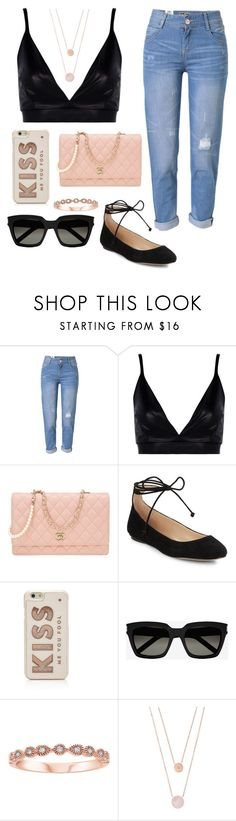 """""""Untitled #65"""" by belleizzie ❤ liked on Polyvore featuring WithChic, Boohoo, Chanel, Karl Lagerfeld, Kate Spade, Yves Saint Laurent and Michael Kors"""