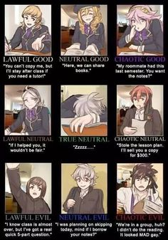 They'd be funny Classmates...xD