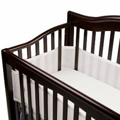 "Amazon.com: BreathableBaby Breathable Mesh Crib Liner, White: Baby ""Ford started sleeping in his crib at three months and was not yet rolling over or moving around much…so I thought. I did not have bumpers in his crib for safety reasons, but after one night of him squirming himself to the side of the crib in his sleep, I quickly realized that we needed breathable bumpers in there. Baby arms and legs can easily get stuck between the crib slats and having the mesh liner in there has been a mus..."