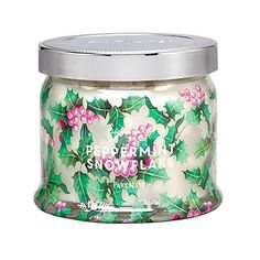 Peppermint Snowflake 3-Wick Jar Candle - 2 for £34.50!