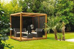 Modern pergola design ideas freestanding pergola wooden deck outdoor furniture palm trees