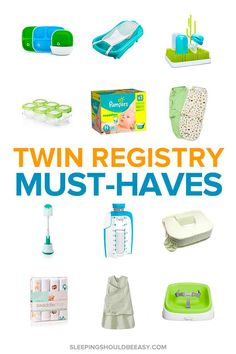 Twin Must Haves The Ultimate Guide for Newborn Twins Twin Must Haves The Ultimat. - Twin Must Haves The Ultimate Guide for Newborn Twins Twin Must Haves The Ultimat… Twin Must Hav - Twin Mom, Twin Girls, Twin Babies, Baby Twins, Baby Registry Must Haves, Baby Must Haves, Pregnancy Must Haves, Pregnancy Tips, Pregnancy Countdown