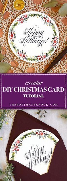 Circular DIY Christmas Card Tutorial