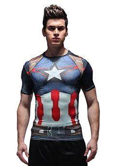 Jackcsale Men's Compression Shirt SuperHero Baselayer Fitness Workout Shirt Jackcsale http://www.amazon.com/dp/B01DJ0C9VK/ref=cm_sw_r_pi_dp_9KDdxb1GWY6WR