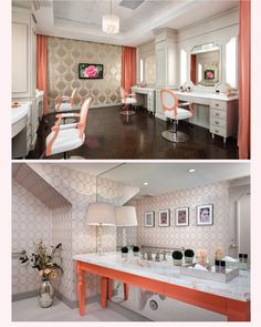 Just some of the swoon worthy interior design in Blushington Makeup & Beauty Lounge. ::sigh:: can I live here PLEASE!