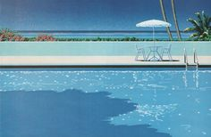 "from: ""JCA Annual 4"", Graphic, Illustration and Design Annual in Japan, (1982), 'Pool Side' Illustration by Hiroshi Nagai (b. 1947, Japan)."