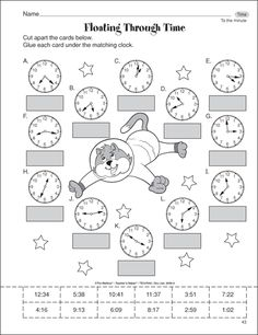 Although clocks are mostly digital in this day and age it is still important to be able to read a non-digital clock. In this assessment the children will cut and paste the correct time under there corresponding clock.