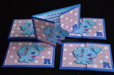 Blues Clues Invitations by craftingwithkiddos on Etsy, $32.00