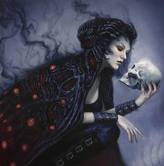 """""""Bone Shop"""" by Lindsey Look. Oil on board."""