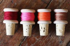 D.I.Y. Thread Spool Wine Corks - A Beautiful Mess