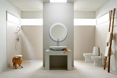 A gorgeous idea for a bathroom that is wheel chair accessible!