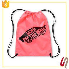 Gold Supplier Fast Delivery waterproof nylon drawstring bag / fabric drawstring bag