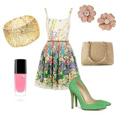Flirty Floral, created by mabodeely on Polyvore