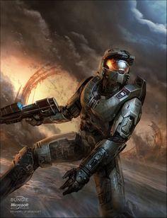 Halo 3 Magazine Cover by Isaac Hannaford on ArtStation Halo Master Chief, Master Chief And Cortana, Halo Game, Halo 3, Halo Reach, Odst Halo, Godzilla, Halo Spartan, Spartan Warrior