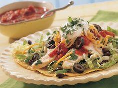 Easy Chicken Tostada Salads