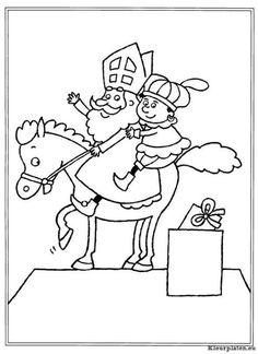 Sinterklaas kinder pieten kleurplaat